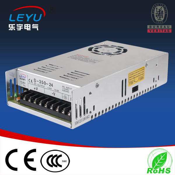 цена на 2016 China LEYU switching power supply 350w CE RoHS approved S-350-27 single output power supply for led lighting strip