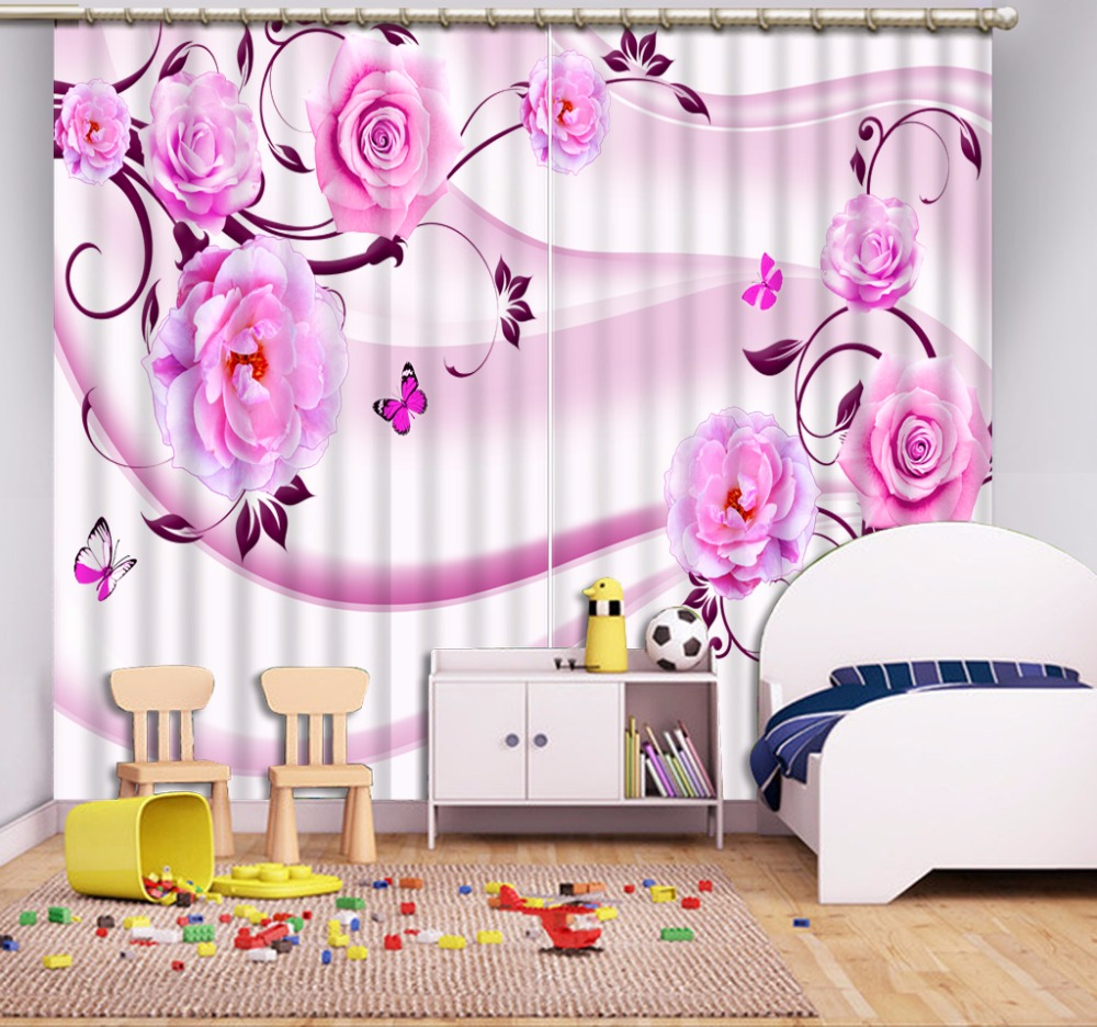 appealing pin and for beautiful bedroom pink curtains decoration striped white purple girls curtain