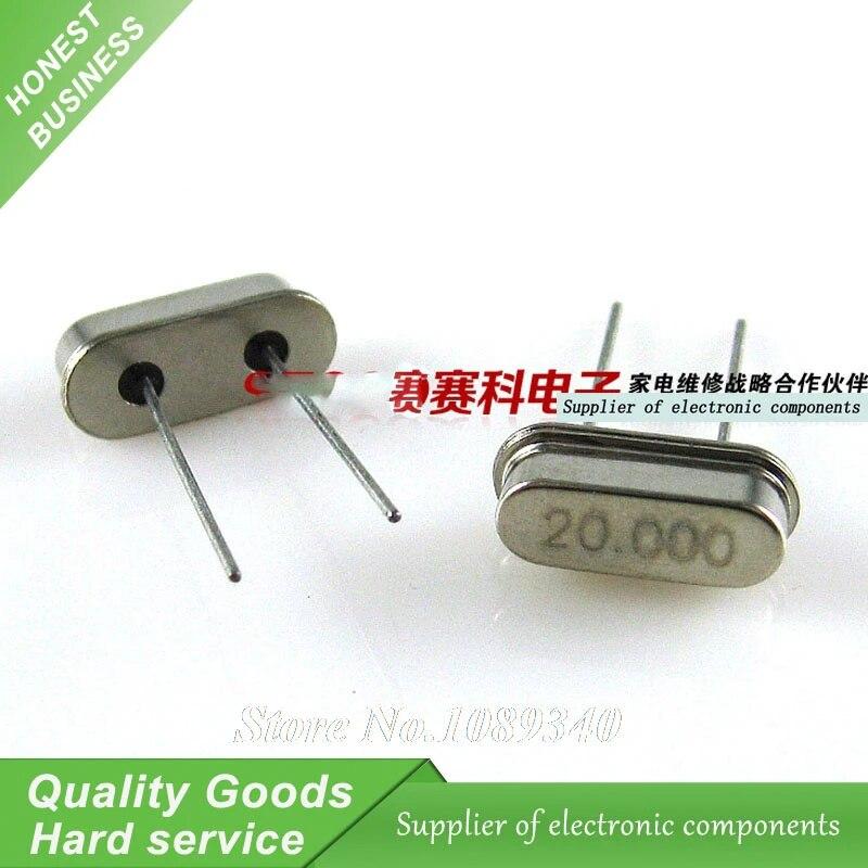 20.000 MHZ Crystal Oscillator HC-49S 15PCS 20MHz