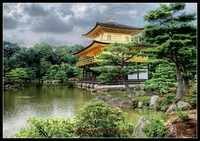 Needlework for embroidery DIY French DMC High Quality Counted Cross Stitch Kits 14 ct Oil painting Temple Kyoto