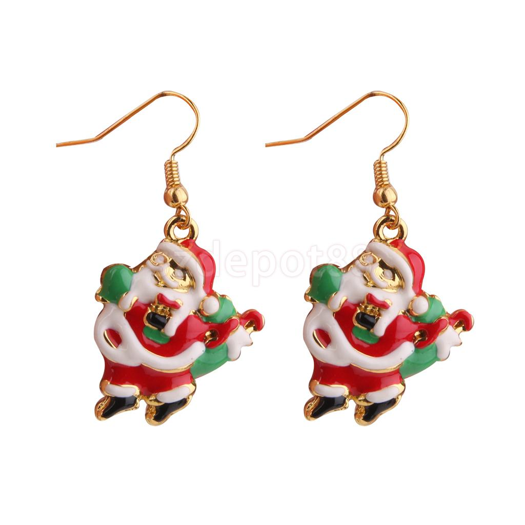 Christmas Jewelry Santa Claus Hook Earrings Xmas Party Gift Beauty Decor Free Shipping