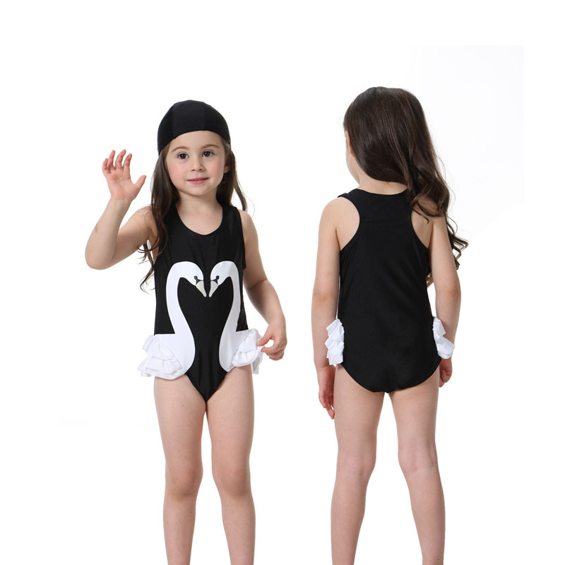 feeda737693 2018 Summer Baby Girls One Piece Swimsuit Children Swimwear Cute Print  Bikini Parrot Swan Flamingos Bathing Suit Kids Beach Wear-in Children's  One-Piece ...