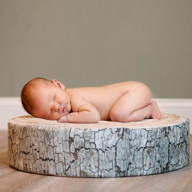 Tree stump log cushions tree slice posing pillow wood slice photo prop rustic newborn