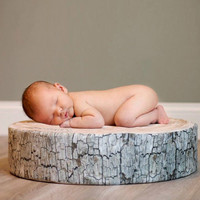 Hot Tree Stump Log Cushions Tree Slice Posing Pillow Wood Slice Photo Prop Rustic Newborn Posing