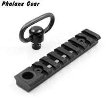 Tactical KeyMod Picatinny Weaver Rail Sections 8 Slots Mount Base with QD Sling Swivel Adapter For Hunting