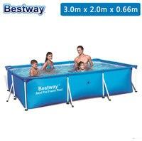 56404 BestWay 118 x 79 x 26 /300*201*66 см 3300L Deluxe Splash Frame бассейн для взрослых и детей (без аксессуаров)/старый 56043 бассейн