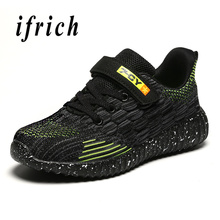 Children Shoes Boy Size 28-39 Kids Boys Sneakers Summer Breathable Sport For White Blue Running Trainers
