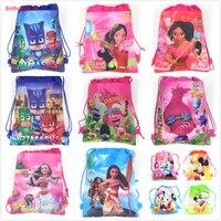 20pcs Princess ELENA PJmask Non Woven Fabric Backpack Child Travel School Bag Decoration Mochila Drawstring Gift