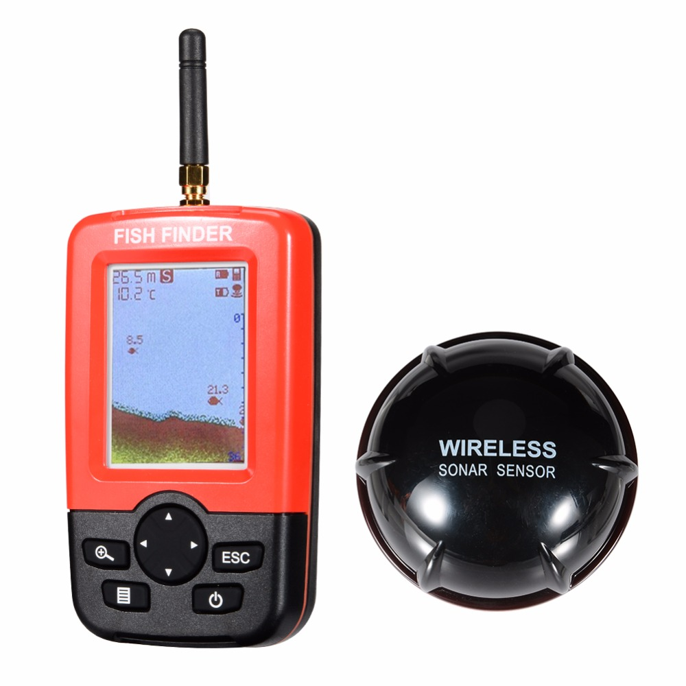 Lumiparty smart portable fish finder with 100m wireless for Portable fish finder reviews