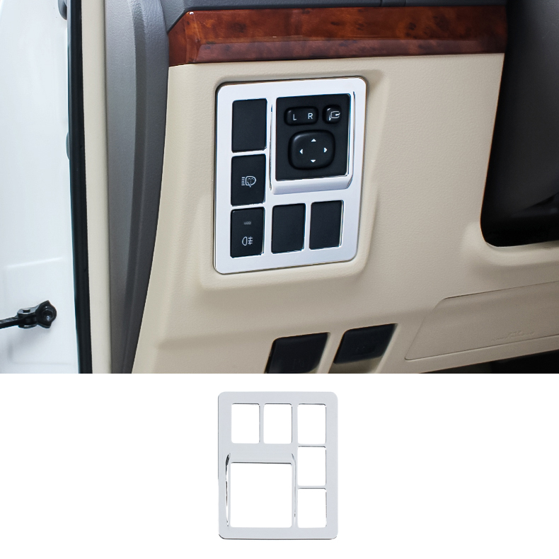 Accessories For <font><b>Toyota</b></font> Land Cruiser <font><b>150</b></font> Prado LC150 FJ150 2010-2017 LHD Interior Fog Lamp Switch Cover Trim Chrome Car-Styling image
