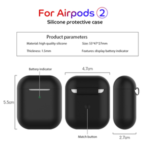 Image 5 - 2 in 1 TPU Silicone Bluetooth Wireless Earphone Case & Metal Film Sticker For AirPods 2 Protective Cover For AirPod Charging Box