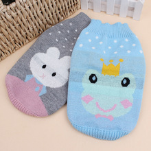 New trend pet canine garments Crown frog jacquard sweater costume rabbit Two coloration Free Transport