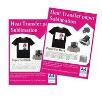 Ciemny kolor transferu papier fotograficzny a4 papier przenikania ciepła w A4 papieru, bawełna sublimacji papier