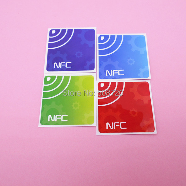 4Pcs NFC Tag Stickers Ntag203 13.56Mhz RFID Tag for Samsung Galaxy S5 Note3 S4 Nokia Nexus4/10 Oppo HTC Sony LG smartrac nfc ntag 203 circus 23mm stickers set windows android htc samsung nokia