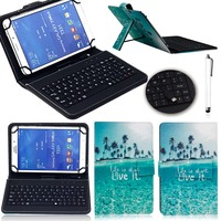 High Quality 7 PU Leather Case Cover With Micro USB Keyboard For 7 Inch Android Tablet