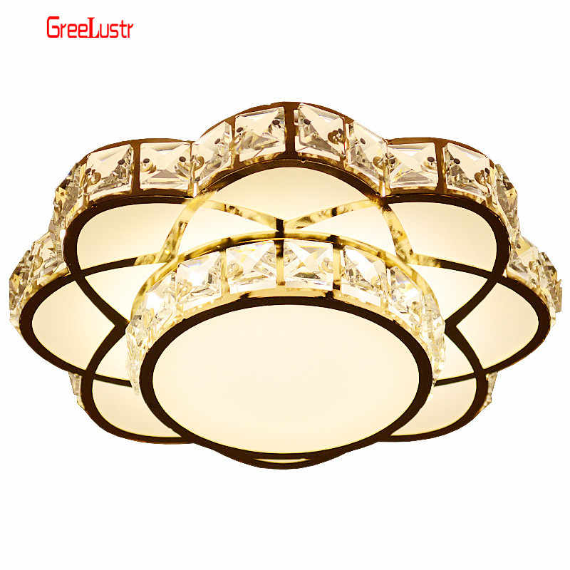 Modern Led Crystal Chandelier Light Gold Ceiling Chandeliers Lamp For Kitchen Lustre Lighting Hanging Ceiling Fixture Luminaire