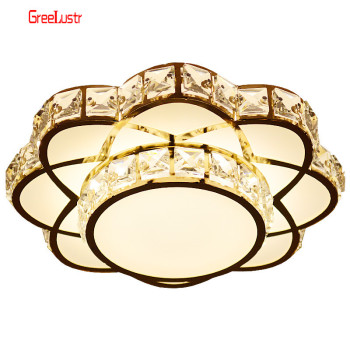 Modern Led Crystal Chandelier Light Gold Ceiling Chandeliers Lamp For Kitchen Lustre Lighting Hanging Ceiling Fixture Luminaire new design led crystal light ceiling crystal chandelier modern home chandeliers