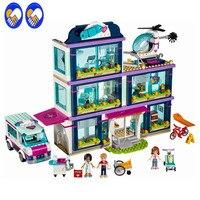 A Toy A Dream Lepin 41318 Heart Lake Love Hospital 932 Pcs Mini Bricks Girls Friends