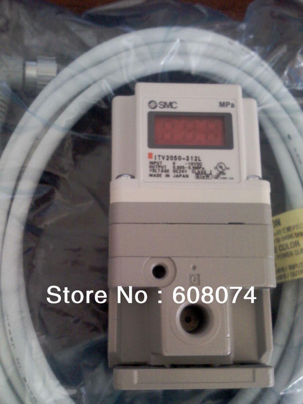 SMC   ELECTRO PNEUMATIC REGULATOR   ITV2030-312L3  , 24VDC 1/4 PORT 0.005~0.5MPa  0~10V pneumatic jet chisel jex 24