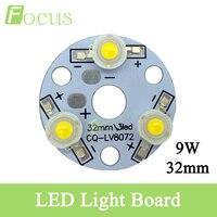 9 W Poder Más Elevado LLEVÓ la viruta 45mil LED Placa PCB 780-840LM LED granos ligeros para DIY bombilla led fuente de luz con 32mm base