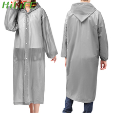 Transparent Raincoat Ponchos Hooded Elastic-Cuffs Travel Outdoor Waterproof Women Camping