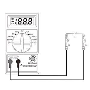 Image 3 - CM7115A pratique condensateur mètre numérique multimètre LCD affichage outil de mesure avec intégration à double pente système de convertisseur A/D