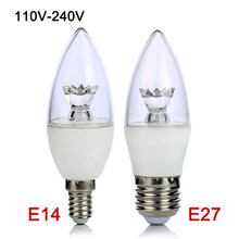 E27 E14 LED Bulb 5W 110V 220V COB LED Candle Lamp Light C37 Chandelier Lighting Clear Crystal LED Lamp for Home Decoration(China)