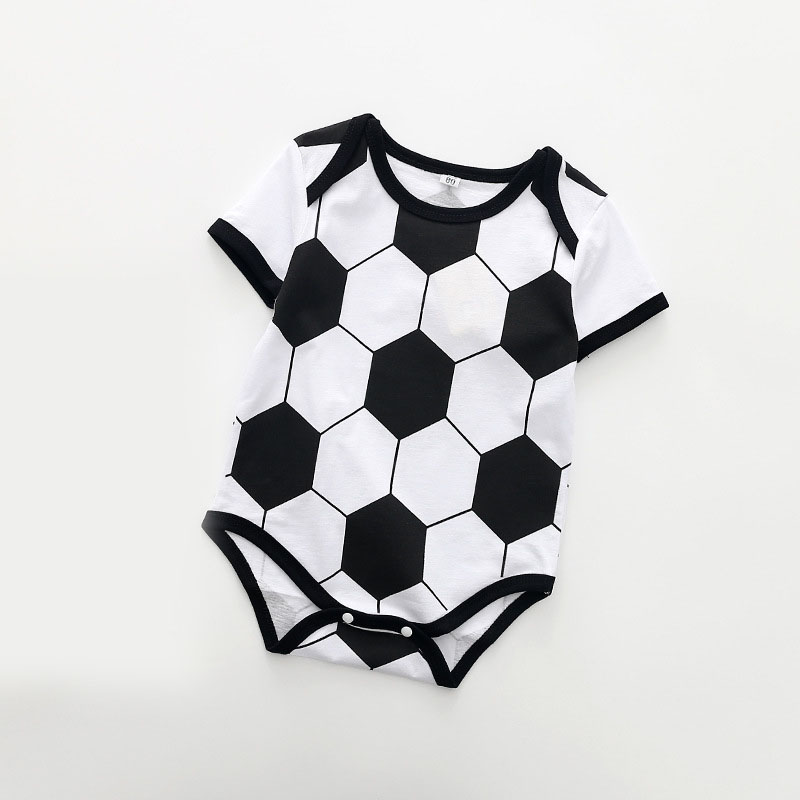 2018 Baby Boys Girls Clothes Summer Football Baby Rompers Boy Girl Clothing Newborn Infant Clothes Jumpsuits ...