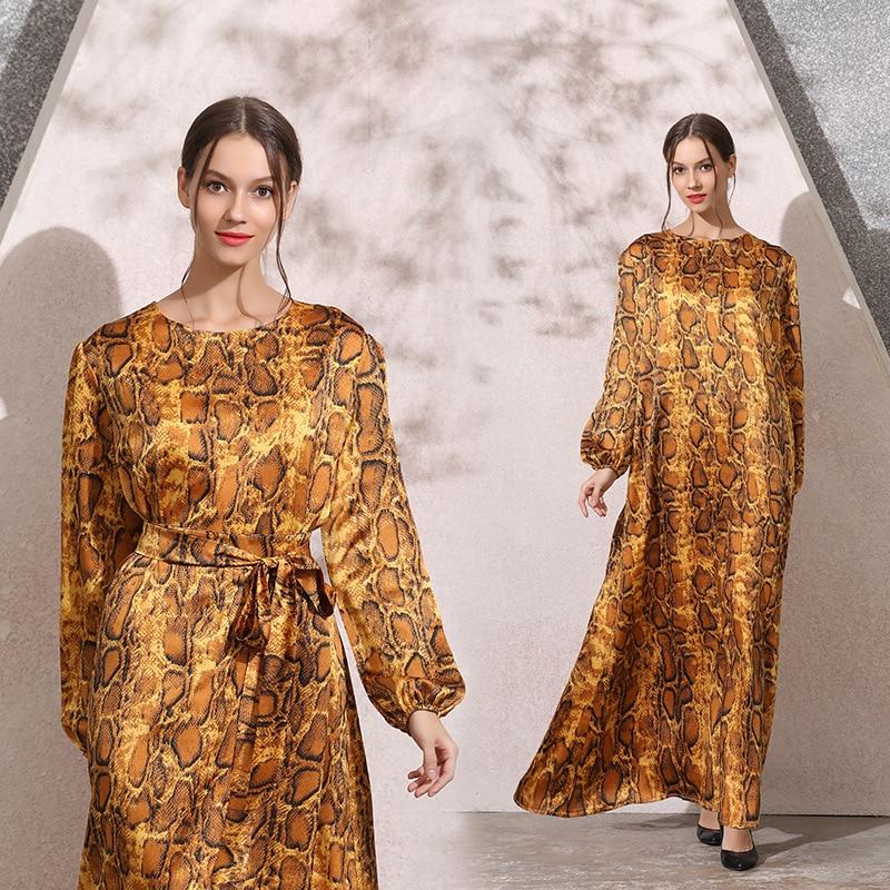2019 New Arrival Autumn Elegent Fashion Style Muslim Women Plus Size Long Abaya