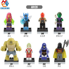 Single Sale Building Blocks Killer Croc Red Hood Raven Starfire Saturn Girl Robin Action Figures Bricks Toys for Children X0126(China)