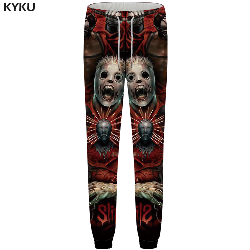 KYKU Skull Pants Men Band Black Space Sweatpants Joggers Character 3d Print Pants Fitness Hip Hop Mens Trousers Casual Style