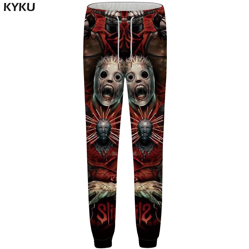 KYKU Skull Pants Men Band Black Space Sweatpants Joggers Character 3d Print Pants Fitness Hip Hop Mens Trousers Casual Style