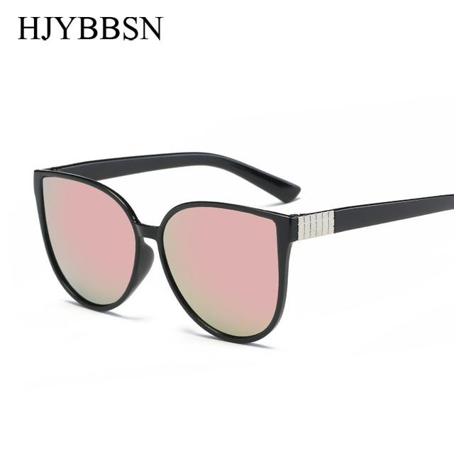 4c22456953 Pink vintage Mirror female Women Cat Eye Sunglasses round Brand Designer  arrow ladies Sun glasses for