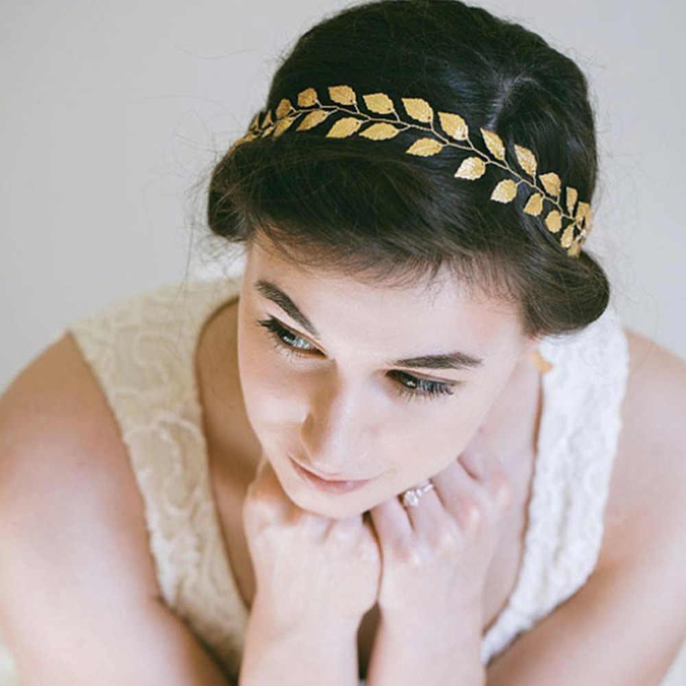 M MISM 1 Ngọt Tóc Trang Sức Lá Cô Dâu Tiaras Cưới Phụ Kiện Tóc Mũ Đội Đầu Vàng Bạc Mũ Trùm Đầu Mũ Trụ Tặng