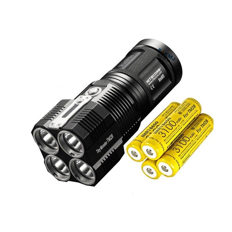 Produit d'origine NITECORE MONSTER TM28 6000LM CREE XHP35 Rechargeable lampe de poche haute lumière chasse recherche en plein air