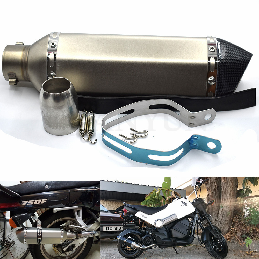 for Motorcycle parts Exhaust Universal 51mm Stainless Steel Motorbike Exhaust Pipe for Suzuki GSF1250 BANDIT GSX1400
