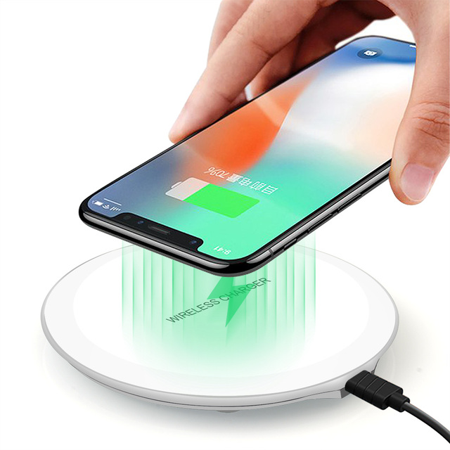 DCAE QI Wireless Charger For iPhone X 8 XS Max XR Samsung S9 S8 Plus Xiaomi Mix 3 2s Wireless Charging Pad Docking Dock Station 4