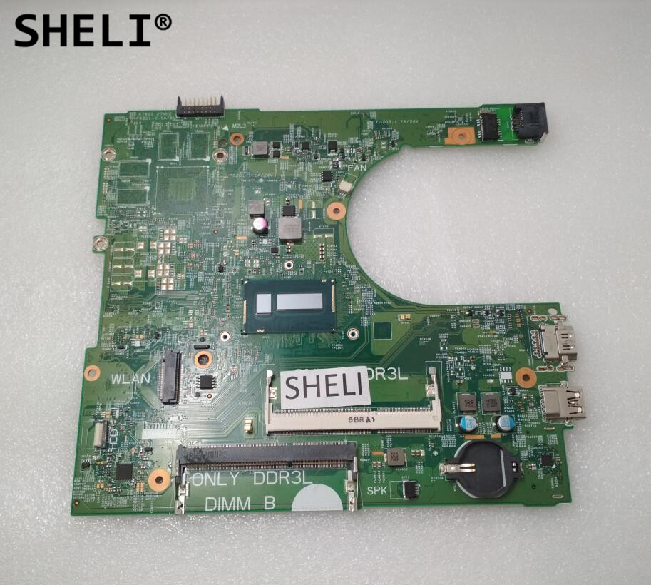 SHELI CN-0PFT7H PFT7H FOR Dell Inspiron 3458 3558 Laptop Motherboard 14216-1 PWB:1XVKN REV:A00 <font><b>SR27G</b></font> I3-5005U mainboard tested image
