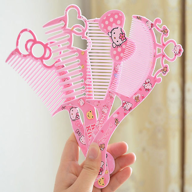 4pcs/lot Hot Sale Cute Cartoon Plastic Kids Children Hair Brush Girls Hairbrush High Quality Hair Comb Girls Hairdresser