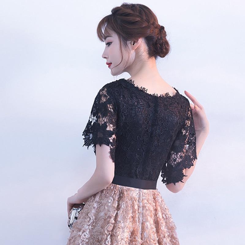 DongCMY New 2019 Short Party Cocktail Dresses Vestidos Flower Elegant Fashion Mini Gown