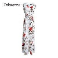 Dabuwawa Floral Print High Waist Jumpsuit Sleeveless Wide Leg Jumpsuit Floral Overalls Flower Boho Floral Romper #D17BJP049