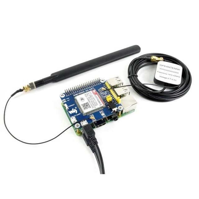 4 グラム/3 グラム/2 グラム/GSM/GPRS/GNSS 帽子ラズベリーパイ GNSS 測位モジュールサポート LTE CAT4 ベースに SIM7600CE-T