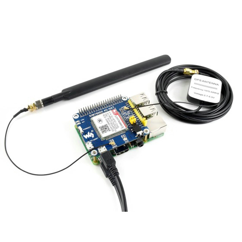 4G / 3G / 2G / GSM / GPRS / GNSS HAT for Raspberry Pi GNSS Positioning Module Support LTE CAT4 Based on SIM7600CE T-in Demo Board Accessories from Computer & Office    1