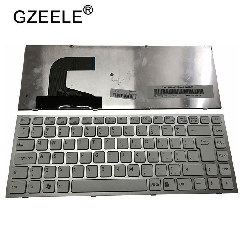 GZEELE US Laptop Keyboard For Sony Vaio VPC-S VPCS VPCS115EC VPCS128EC PCG-51111T PCG-51111W PCG-51411N White
