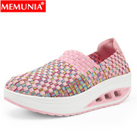 MEMUNIA 2019 new shoes woman rounnd toe flats shoes women mixed colors ladies shoes casual Walking Footwear shoes female