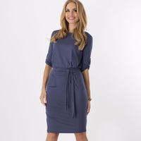 2015 New Fashion Hot Sale Celeb Summer Autumn Middle Sleeve Casual Work Charm Dresses Wholesale