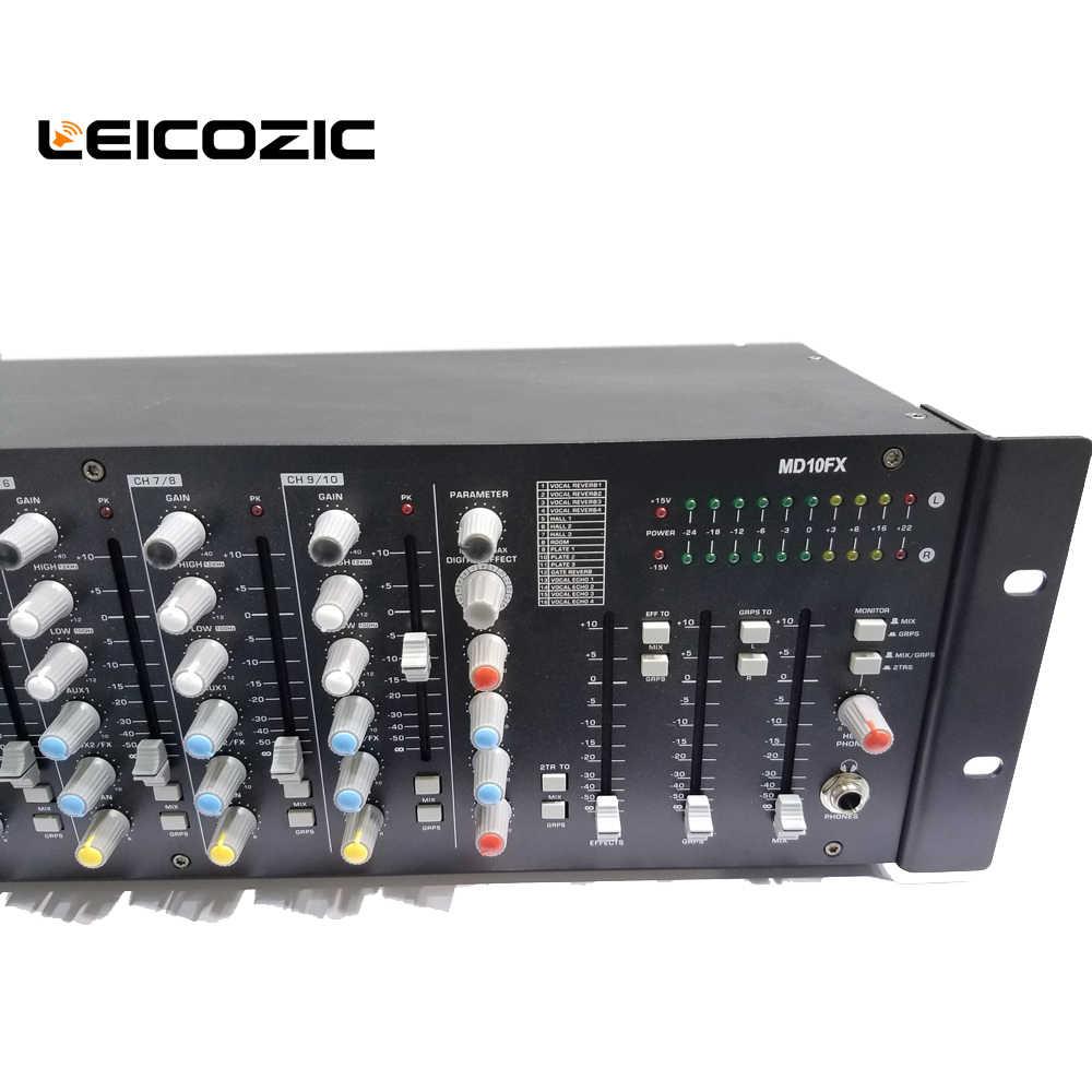 Leicozic профессиональный миксер 320 Вт x2 @ 4 Ом 10-CH усилитель миксер MD10FX аудио миксер стойка крепление 16 DSP процессор эффектов