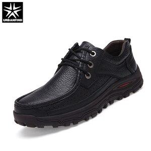 Image 4 - URBANFIND Genuine Leather Men Dress Shoes Big Size 38 48 Good Quality Man Formal Business Oxfords 2 Styles