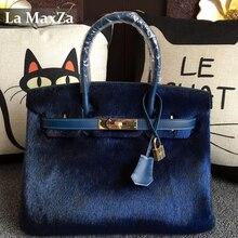 2017 Female Luxury Brand Mohair Handbag