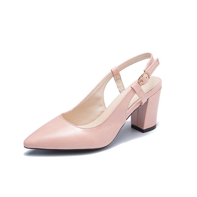 Trabajo Baja La Sandalias 2019 Mujer Tacón rosado Tacones Beige Sexy Alta Primavera Boca Hueco Alto orange Nueva De Grueso Zapatos Bombas vOq1C